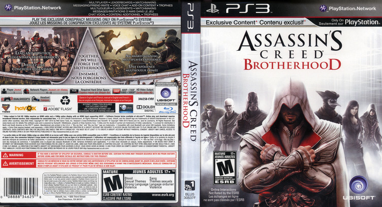 Assassin's Creed: Brotherhood PS3 coverfullM (BLUS30537)