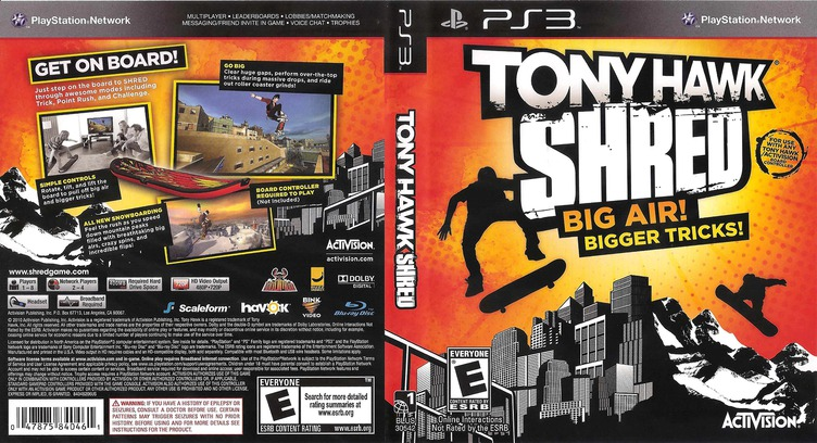 Tony Hawk: Shred PS3 coverfullM (BLUS30542)