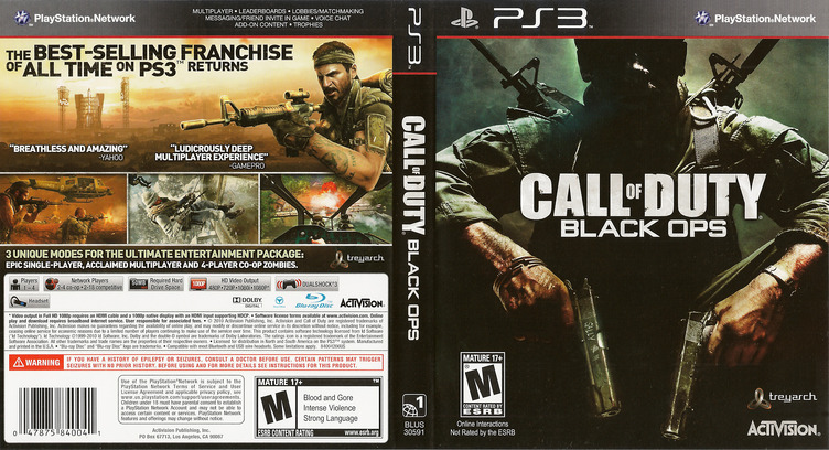 Call of Duty: Black Ops PS3 coverfullM (BLUS30591)