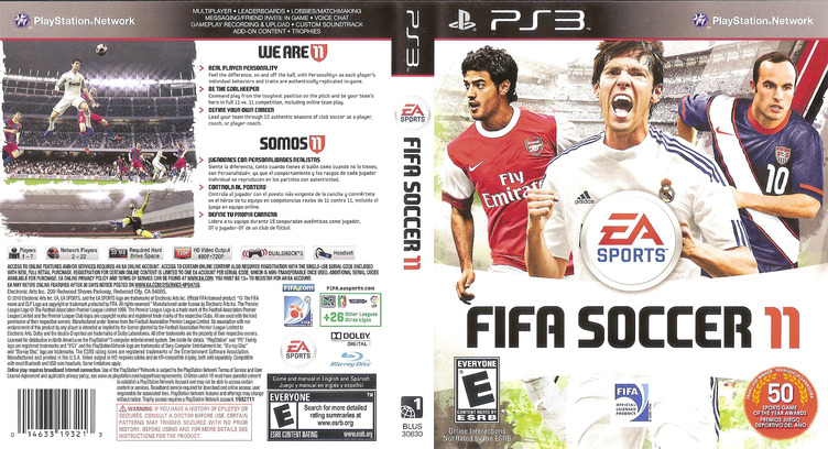 FIFA Soccer 11 PS3 coverfullM (BLUS30630)