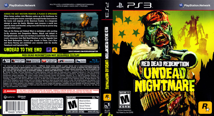 Red Dead Redemption: Undead Nightmare Collection PS3 coverfullM (BLUS30711)