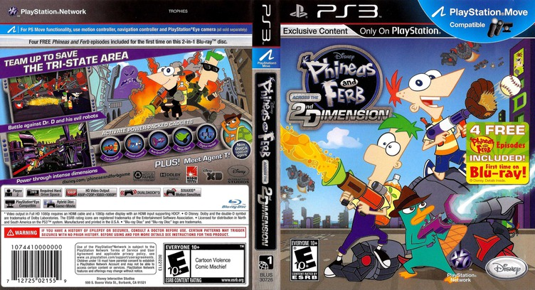 Phineas and Ferb: Across the 2nd Dimension PS3 coverfullM (BLUS30726)