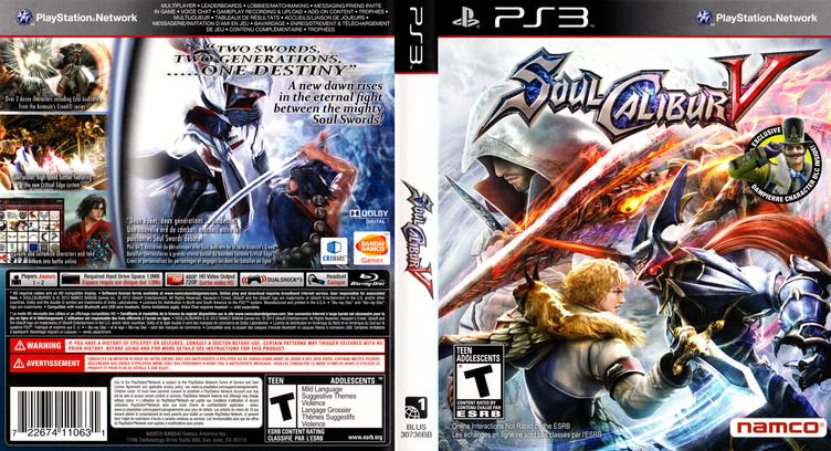 SoulCalibur V PS3 coverfullM (BLUS30736)