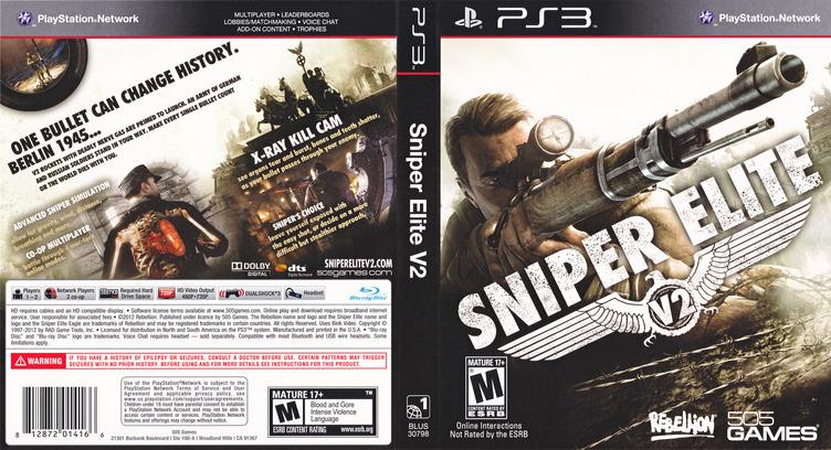 Sniper Elite V2 PS3 coverfullM (BLUS30798)