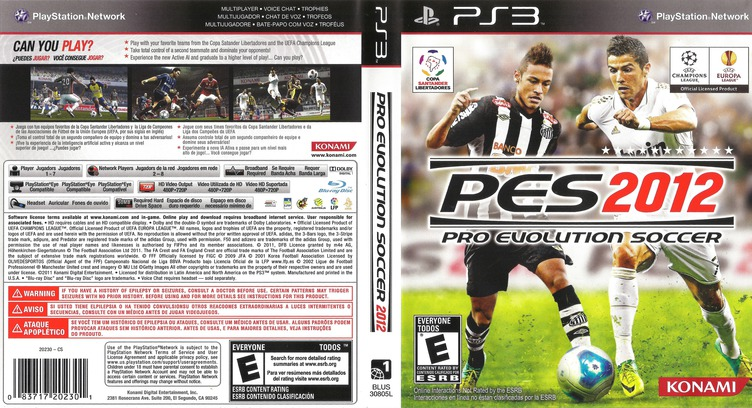 Pro Evolution Soccer 2012 PS3 coverfullM (BLUS30805)