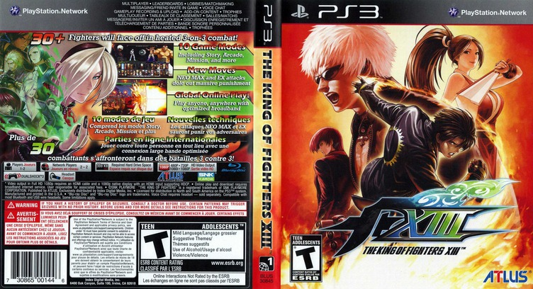 The King of Fighters XIII PS3 coverfullM (BLUS30845)