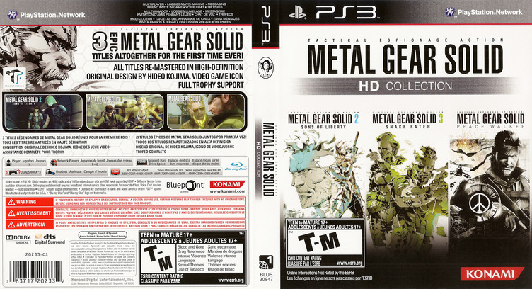 Metal Gear Solid: HD Collection PS3 coverfullM (BLUS30847)