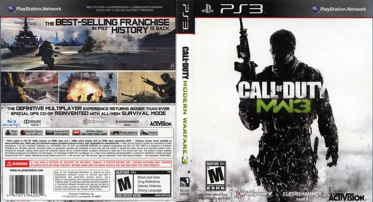 Call of Duty:Modern Warfare 3 PS3 coverfullM (BLUS30887)