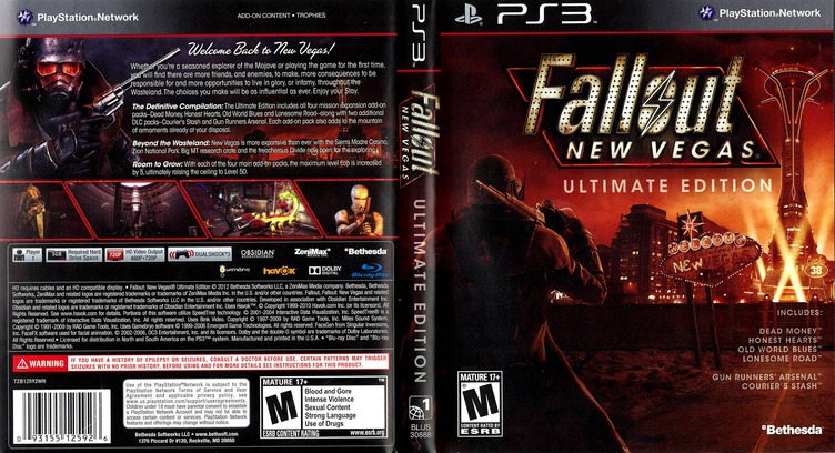 Fallout New Vegas: Ultimate Edition PS3 coverfullM (BLUS30888)