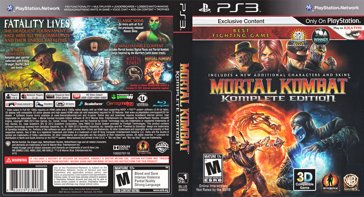 Mortal Kombat Komplete Edition PS3 coverfullM (BLUS30902)