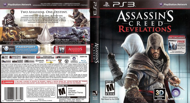 Assassin's Creed: Revelations PS3 coverfullM (BLUS30905)