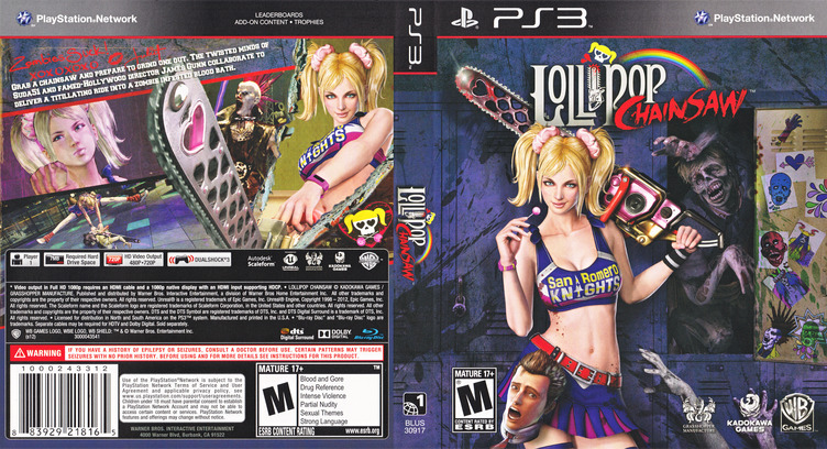 Lollipop Chainsaw PS3 coverfullM (BLUS30917)