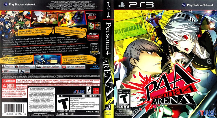 Persona 4 Arena PS3 coverfullM (BLUS30985)
