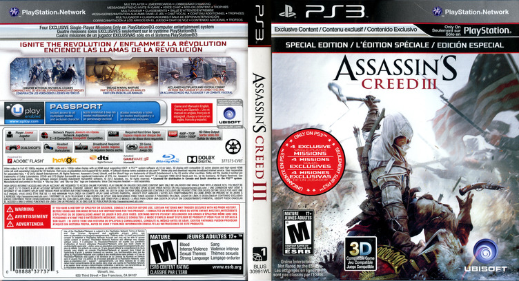 Assassin's Creed III PS3 coverfullM (BLUS30991)