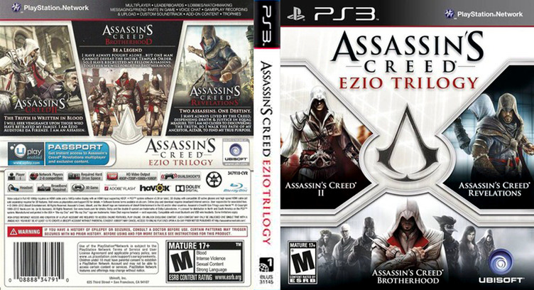Blus31145 Assassin S Creed Ezio Trilogy