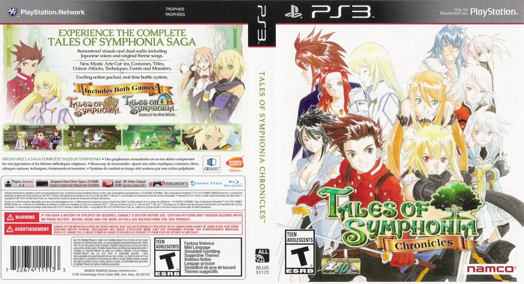 Tales of Symphonia Chronicles PS3 coverfullM (BLUS31172)