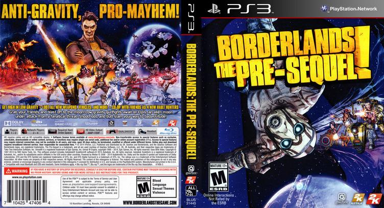 Borderlands: The Pre-Sequel PS3 coverfullM (BLUS31445)