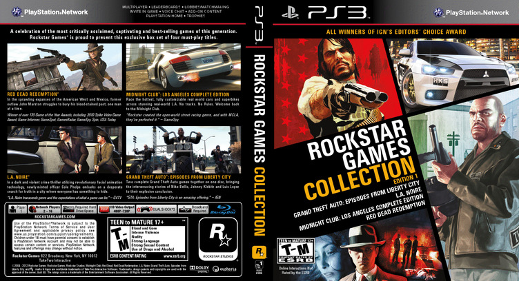 Rockstar Games Collection: Edition 1 PS3 coverfullM (BLUS41006)