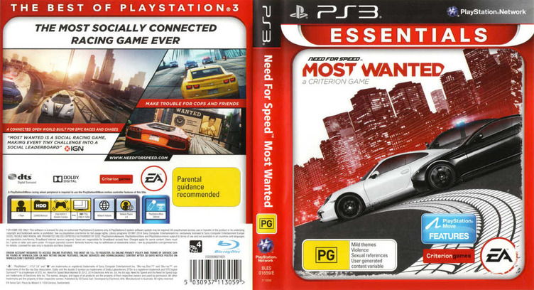 Need for Speed: Most Wanted PS3 coverfullM2 (BLES01659)