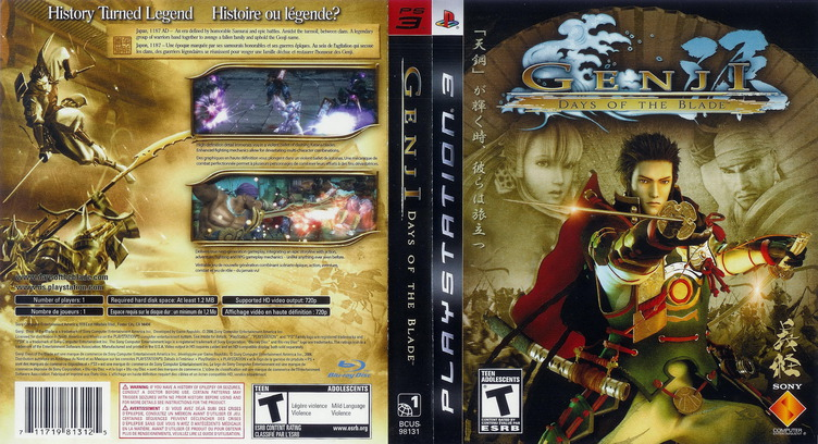 Genji: Days of the Blade PS3 coverfullM2 (BCUS98131)