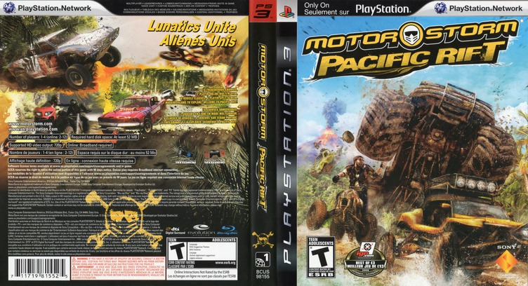 MotorStorm: Pacific Rift PS3 coverfullM2 (BCUS98155)