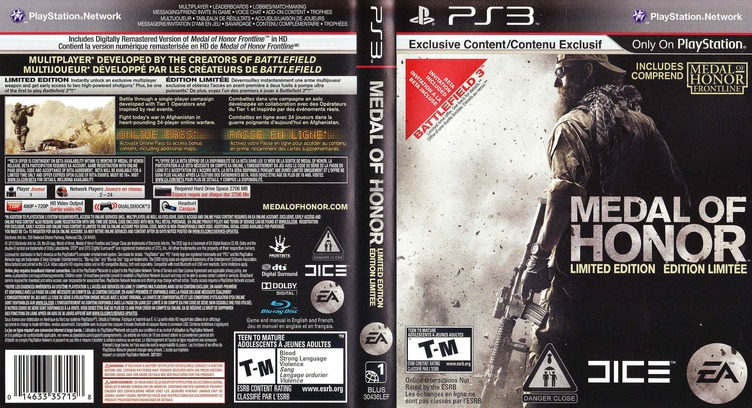 Medal of Honor PS3 coverfullM2 (BLUS30436)