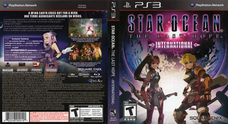 Star Ocean: The Last Hope - International PS3 coverfullM2 (BLUS30462)