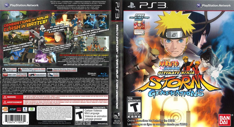 Naruto Shippuden: Ultimate Ninja Storm Generations PS3 coverfullM2 (BLUS30792)
