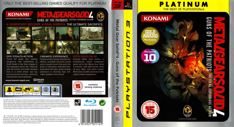 Metal Gear Solid 4: Guns of the Patriots PS3 coverfullMB (BLES00246)