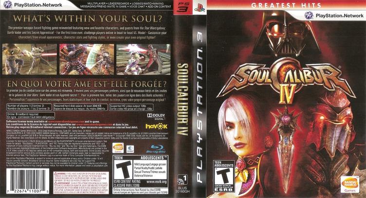 Soul Calibur IV PS3 coverfullMB (BLUS30160)