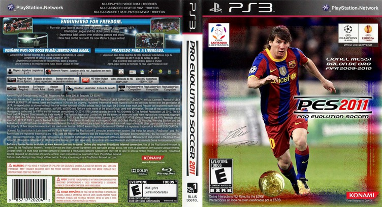 Pro Evolution Soccer 2011 PS3 coverfullMB (BLUS30610)