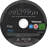 The Elder Scrolls IV: Oblivion - Game of the Year Edition PS3 disc (BLES00163)