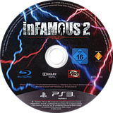 inFamous 2 PS3 disc (BCES01143)