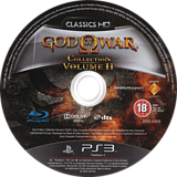God of War Collection Volume II PS3 disc (BCES01278)