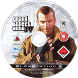 Grand Theft Auto IV PS3 disc (BLES00229)