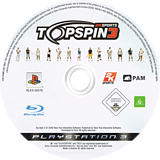 Top Spin 3 PS3 disc (BLES00276)