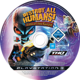 Destroy All Humans! Path of the Furon PS3 disc (BLES00467)