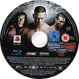WW Smackdown vs Raw 2010 PS3 disc (BLES00651)