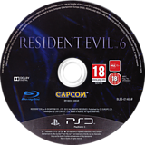 Resident Evil 6 PS3 disc (BLES01465)