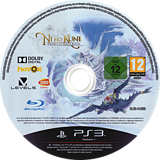 Ni no Kuni: Wrath of the White Witch PS3 disc (BLES01555)