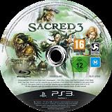 Sacred 3 PS3 disc (BLES01492)