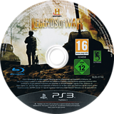 History: Legends of War PS3 disc (BLES01744)