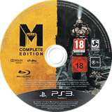 Metro: Last Light - Complete Edition PS3 disc (BLES01999)