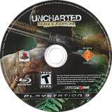 Uncharted: Drake's Fortune PS3 disc (BCUS98103)