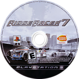 Ridge Racer 7 PS3 disc (BLUS30001)