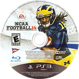 NCAA Football 14 PS3 disc (BLUS31159)