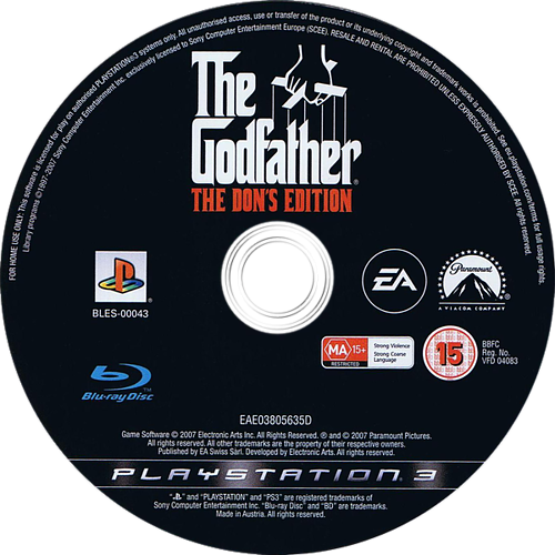 The Godfather: The Don's Edition PS3 discM (BLES00043)