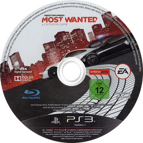 Need for Speed: Most Wanted Limited Edition PS3 discM (BLES01659)