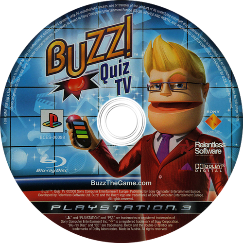 Buzz! Quiz TV PS3 discM (BCES00098)
