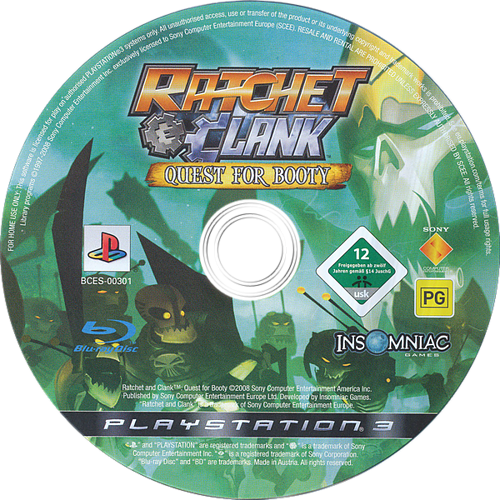 Ratchet & Clank: Quest for Booty PS3 discM (BCES00301)